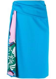 Emilio Pucci printed draped skirt