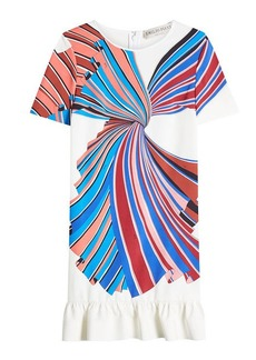 Emilio Pucci Printed Dress with Ruffled Hem