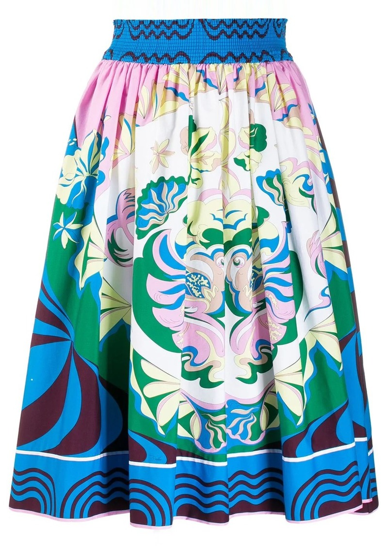 Emilio Pucci printed elasticated waist skirt