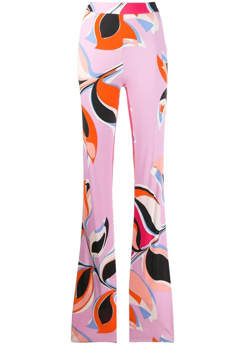 Emilio Pucci printed high waisted trousers