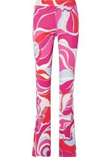 Emilio Pucci Printed Jersey Straight-leg Pants