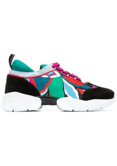 Emilio Pucci printed lace-up sneakers