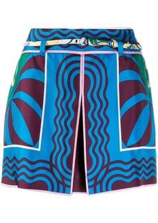Emilio Pucci printed layered shorts