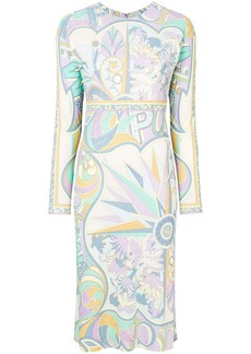 Emilio Pucci printed midi shift dress