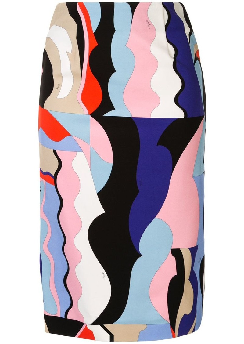 Emilio Pucci multicoloured fitted skirt