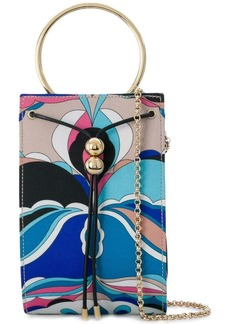 Emilio Pucci printed round handle box bag