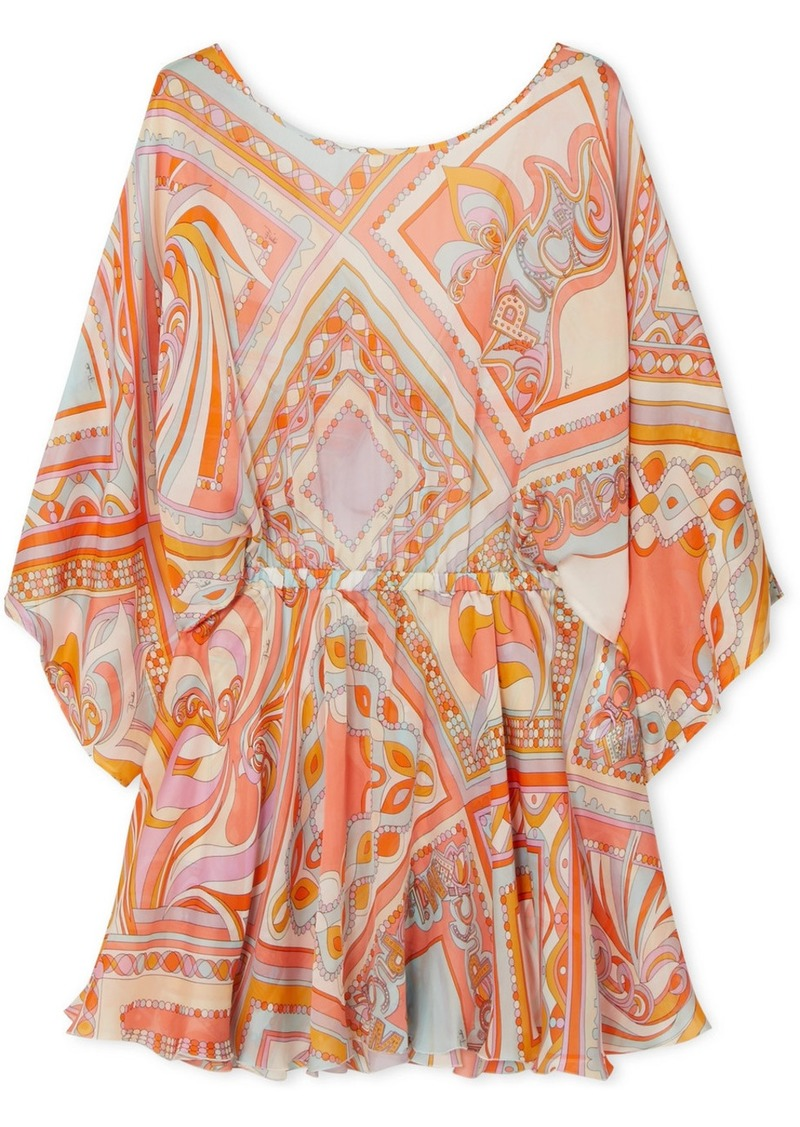 Emilio Pucci Printed Silk-chiffon Mini Dress