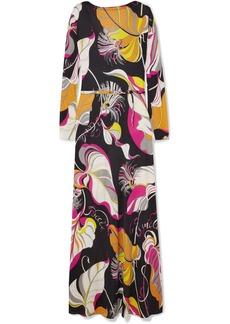 Emilio Pucci Printed Silk Crepe De Chine Maxi Dress
