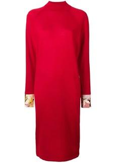 Emilio Pucci printed silk cuff shift dress