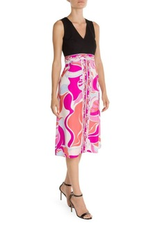 Emilio Pucci Printed Silk Fit-&-Flare Dress