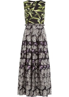 Emilio Pucci Printed Silk Midi Dress