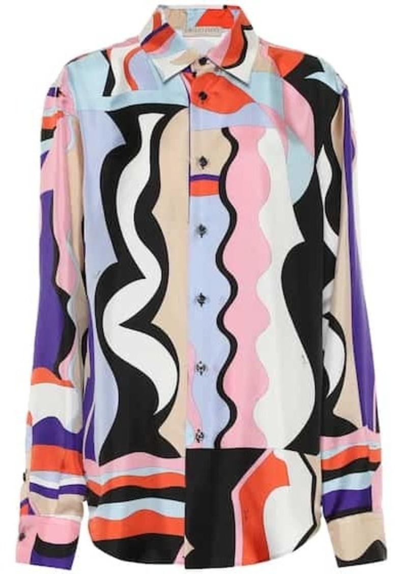 Emilio Pucci Printed silk-twill blouse