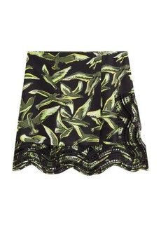 Emilio Pucci Printed Silk Twill Skirt