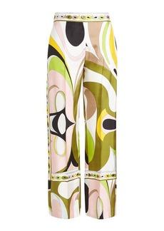Emilio Pucci Printed Silk Wide-Leg Pants
