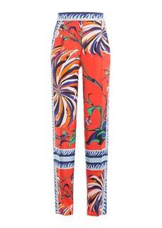 Emilio Pucci Printed Silk Wide Leg Pants