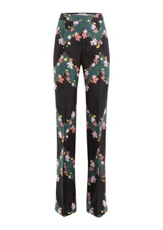 Emilio Pucci Printed Silk Wide Leg Pants