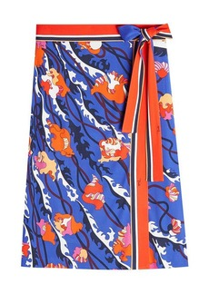 Emilio Pucci Printed Skirt with Silk