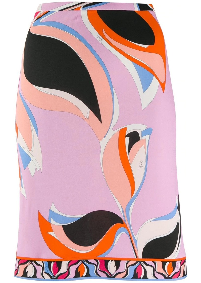 Emilio Pucci printed straight skirt