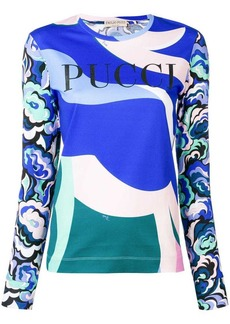 Emilio Pucci printed sweatshirt with logo