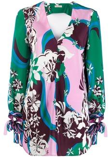 Emilio Pucci printed v-neck blouse