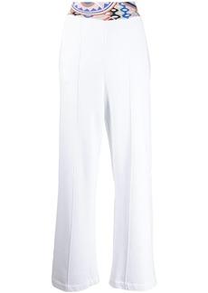 Emilio Pucci printed-waist straight-leg trousers