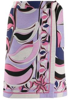 Emilio Pucci printed wrap skirt