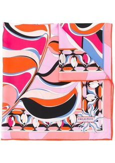 Emilio Pucci psychedelic-style patterned scarf