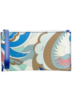 Emilio Pucci psychedelic wristlet clutch
