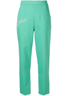Emilio Pucci Pucci Embroidered Cropped Tailored Trousers