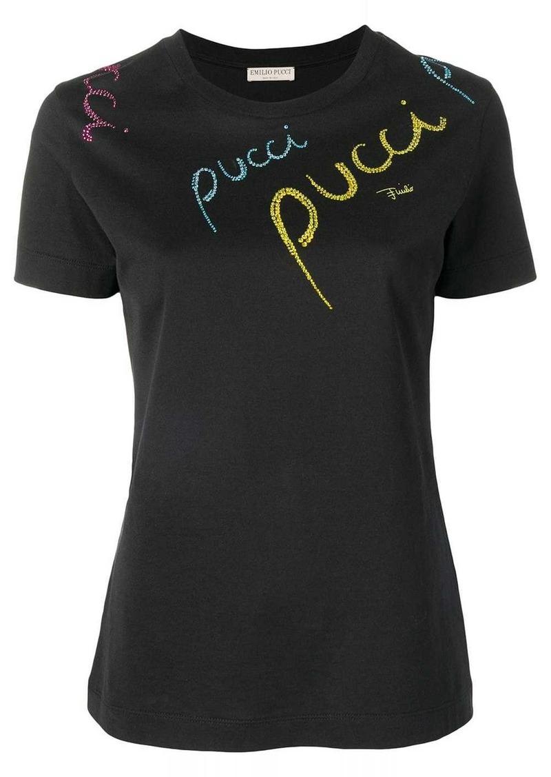 Emilio Pucci Pucci Pucci Embellished T-shirt