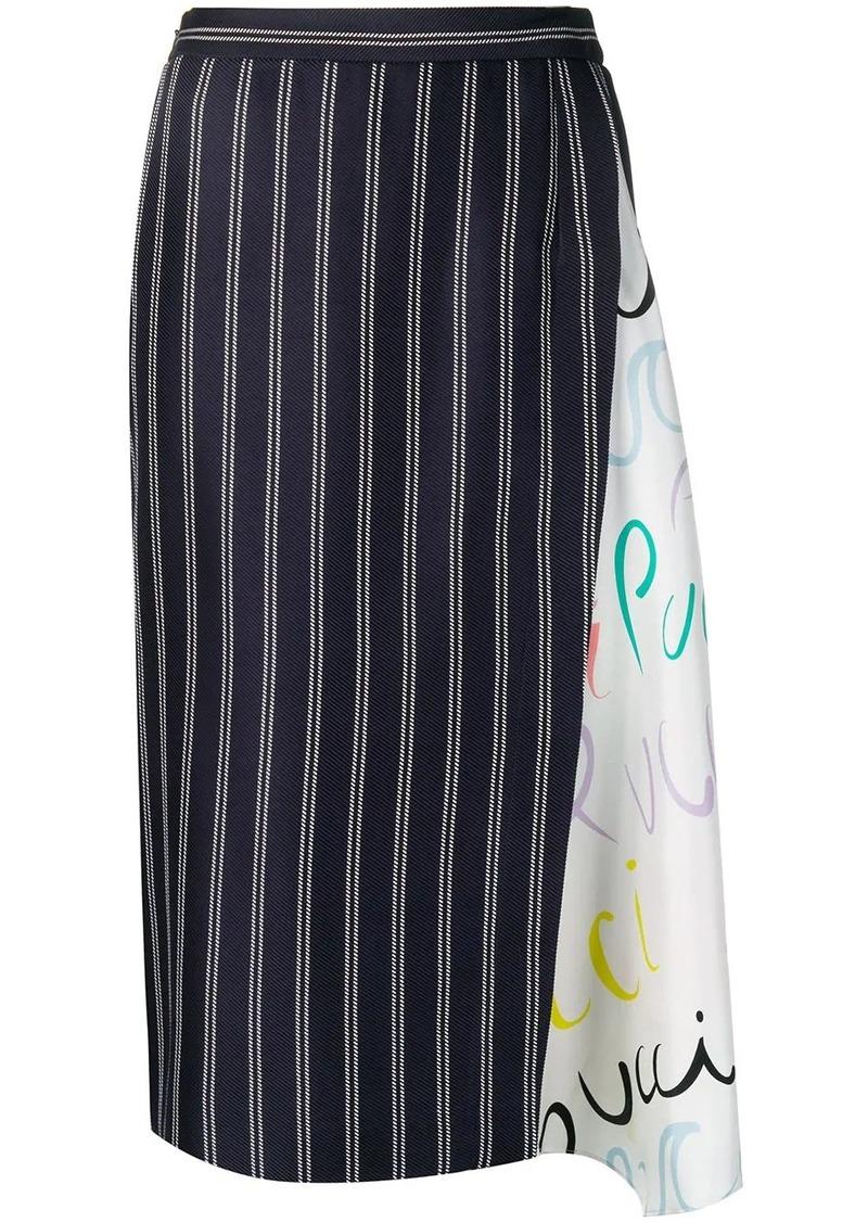 Emilio Pucci Pucci Pucci-Print Insert Skirt