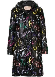 Emilio Pucci Pucci Pucci print quilted coat