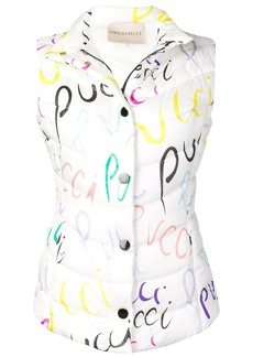 Emilio Pucci Pucci Pucci print quilted gilet