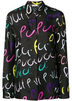 Emilio Pucci Pucci Pucci Print Silk Shirt