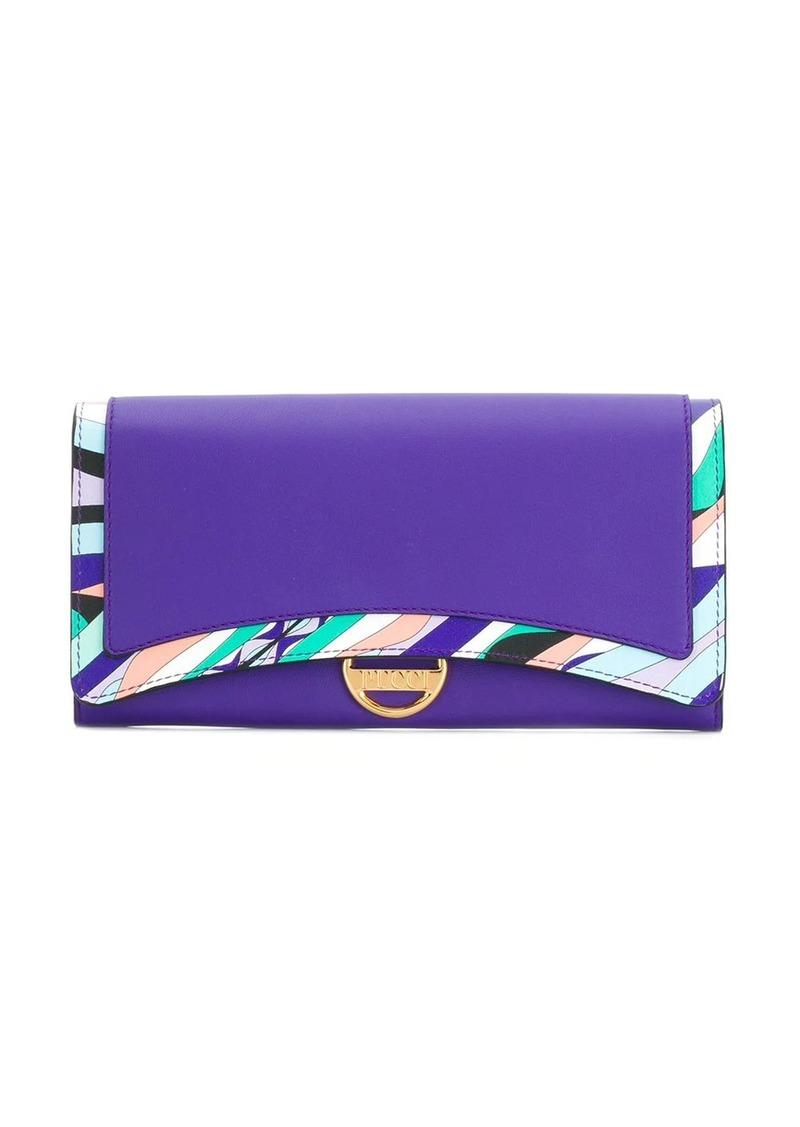 Emilio Pucci Purple Burle Print Wallet
