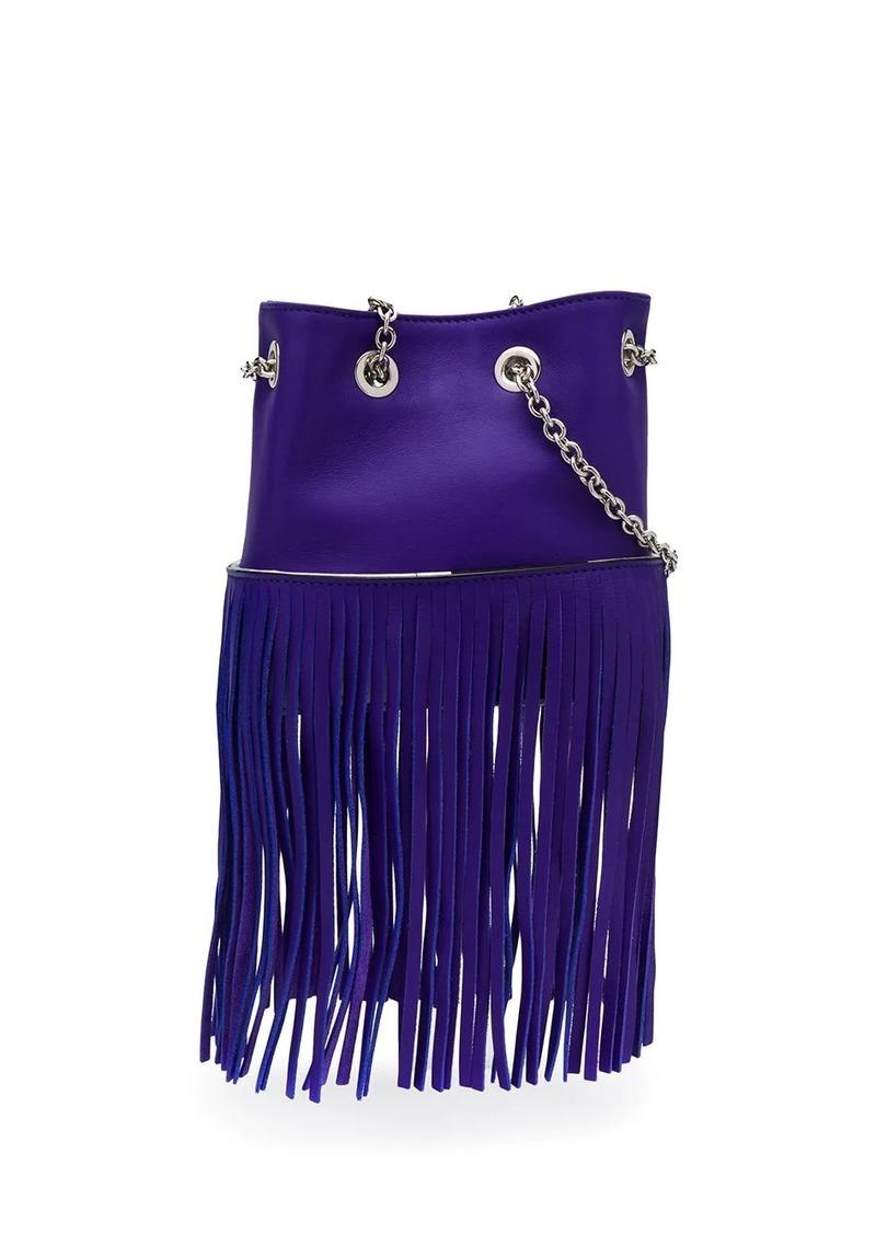 Emilio Pucci Purple Fringed Mini Bonita Bag