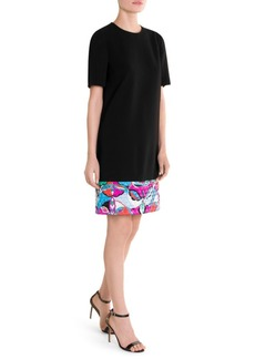 Emilio Pucci Quilted Print Hem T-Shirt Dress