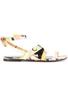 Emilio Pucci Quirimbas print crossover strap sandals