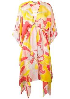 Emilio Pucci Rivera Print Silk Beach Dress