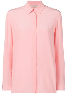 Emilio Pucci Rose Pink Long Sleeved Silk Shirt