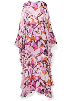 Emilio Pucci Ruffed Printed Silk-georgette Maxi Dress