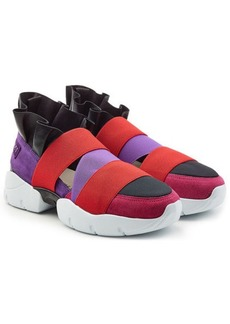 Emilio Pucci Ruffle Sneakers with Suede