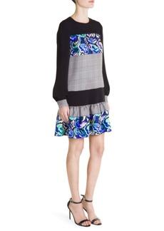 Emilio Pucci Ruffled Drop Waist Mini Dress