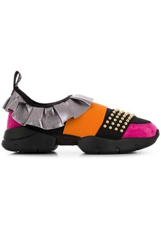 Emilio Pucci ruffled slip-on sneakers