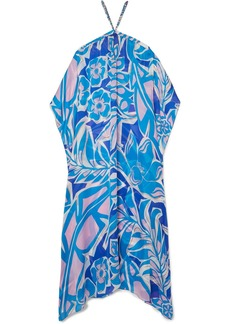 Emilio Pucci Samoa Chain-embellished Floral-print Silk-georgette Maxi Dress