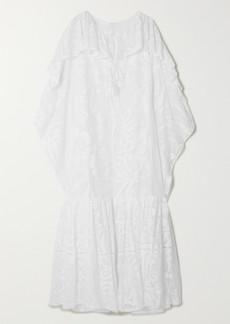 Emilio Pucci Samoa Tasseled Ruffled Cotton-blend Lace Kaftan
