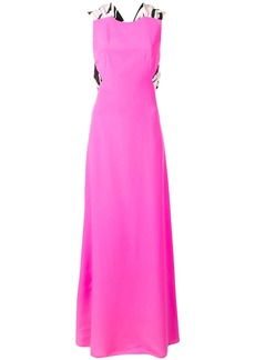 Emilio Pucci Sash Tie Maxi Silk Dress