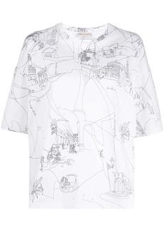 Emilio Pucci Scorci Fiorentini print T-shirt