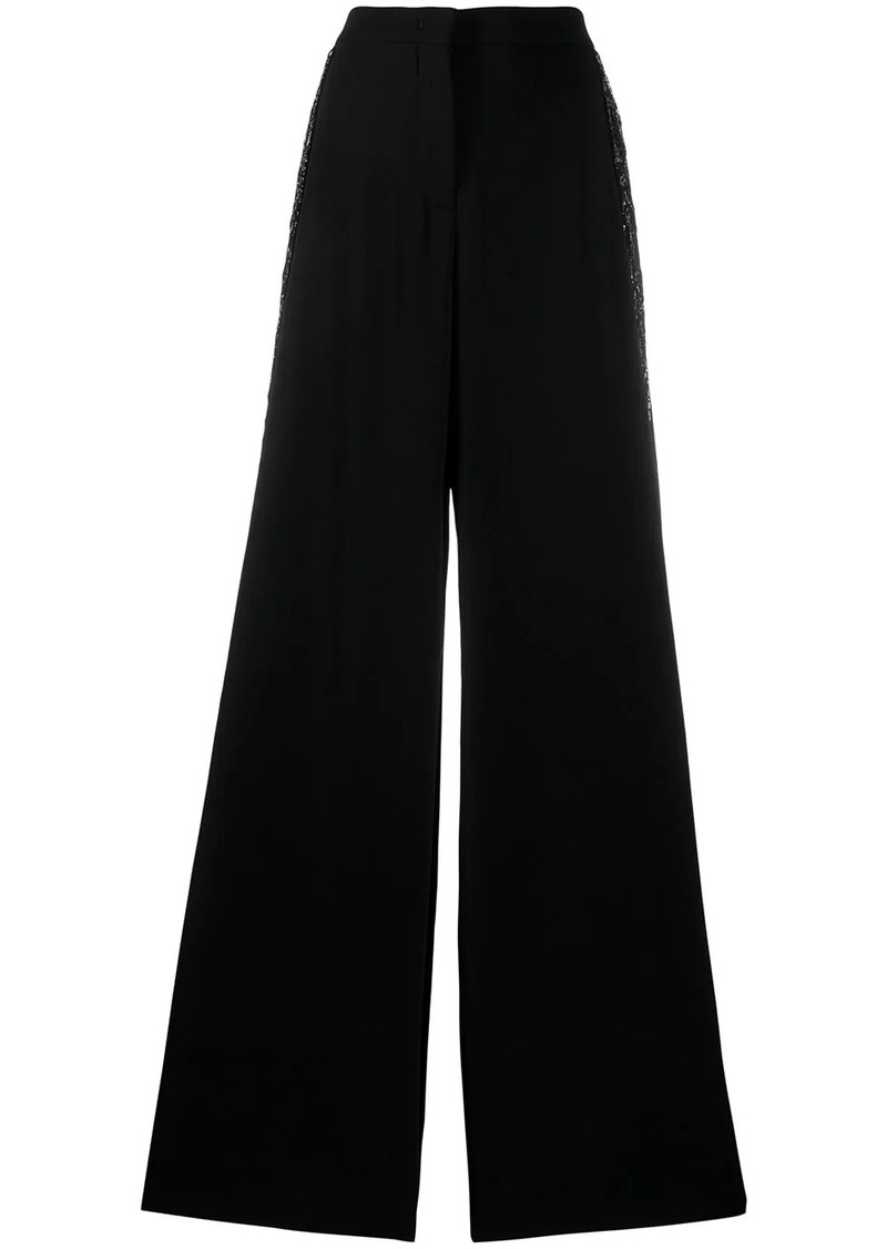 Emilio Pucci sequin embellished wide-leg trousers
