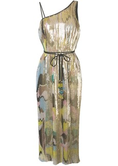 Emilio Pucci Sequin Embroidered Plissé Midi Dress
